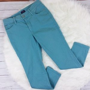 NYDJ Skinny Jeans Turquoise Blue Stretch Spring